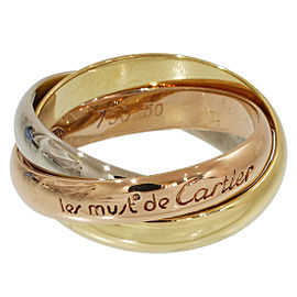 Cartier Trinity De Cartier 18K Rose, White & Yellow Gold 3 Bands Ring Size 5.5
