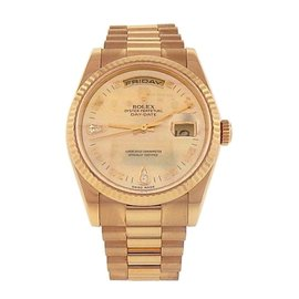 Rolex Day Date President 118238 18K Yellow Gold Automatic 36mm Mens Watch