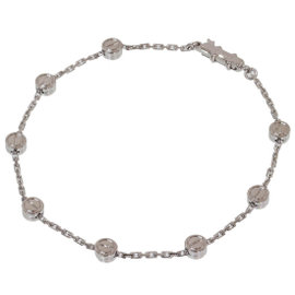 Cartier 18K White Gold Love Pastille Chain Bracelet
