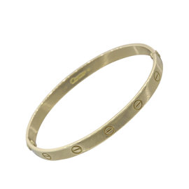 Cartier Love 18K Yellow Gold Bangle Bracelet Size 19
