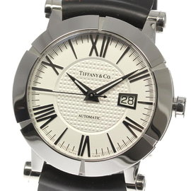 Tiffany & Co. Atlas Z1000.70.12A21A91A Stainless Steel / Rubber Automatic 42mm Mens Watch