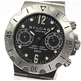 Bulgari Diagono Scuba SCB38S Stainless Steel Automatic 38mm Mens Watch
