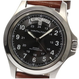 Hamilton Khaki King H644550 Stainless Steel / Leather Automatic 40mm Mens Watch