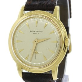 Patek Philippe Calatrava 2525 18K Yellow Gold Manual 36mm Mens Vintage Watch