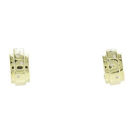 Piaget Possession 18K Yellow Gold & 0.06ct Diamond Earrings