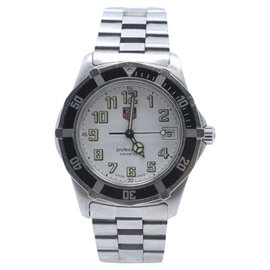 Tag Heuer Professional WM1111 Stainless Steel with White Dial 39mm Mens Watch