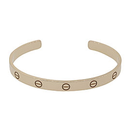 Cartier Love 18K Rose Gold Cuff Bangle Bracelet Size 19