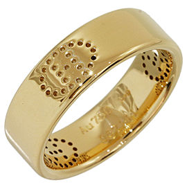 Hermes Eclipse 18K Yellow Gold Band Ring Size 5