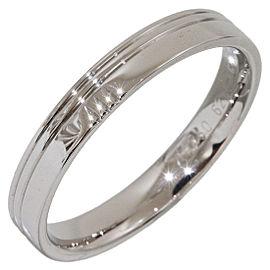 Hermes H Logo 18K White Gold Band Ring Size 10