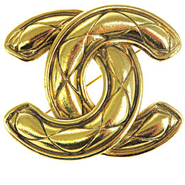 Chanel Gold Tone Hardware CC Logo Pin Brooch
