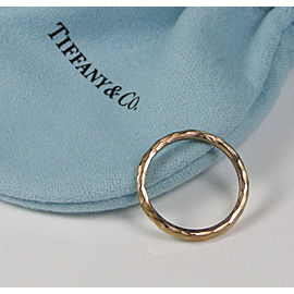 Tiffany & Co. Paloma Picasso 18K Rose Gold Hammered Ring Size 5
