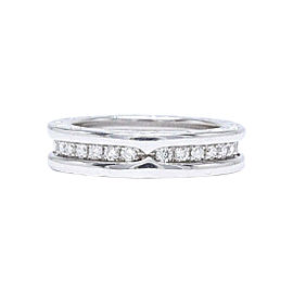 Bulgari B.zero1 18K White Gold 0.60tcw Diamond Wedding Ring Size 4