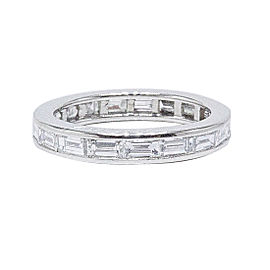 Van Cleef & Arpels 950 Platinum 2.25tcw Diamond Wedding Ring Size 5.25