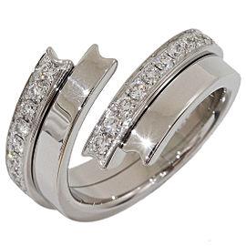 Chaumet 18K White Gold Diamond Ring Size 4.5