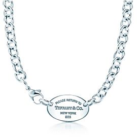 Tiffany & Co. Return To Tiffany Sterling Silver Oval Link Choker Necklace