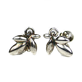 Tiffany & Co. 925 Sterling Silver Olive Leaves Earrings