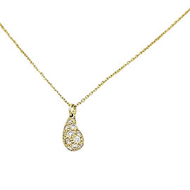 Tiffany & Co. Peretti 18K Yellow Gold with 0.83ctw Diamond Pendant Necklace