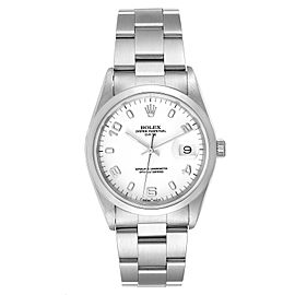 Rolex Date White Dial Oyster Bracelet Steel Mens Watch 15200