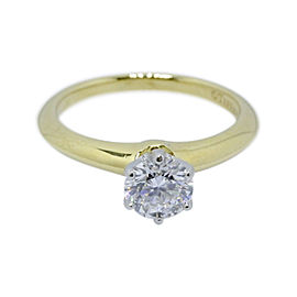 Tiffany & Co. 18K Yellow Gold with 0.80ct Diamond Engagement Ring Size 6