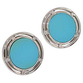 Damiani 18K White Gold Diamond, Turquoise Earrings