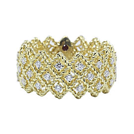Roberto Coin Barocco 18K Yellow Gold with 0.72ctw Diamond Ring Size 6.5