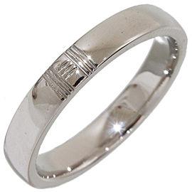 Hermès 18K White Gold Ring Size 3.75