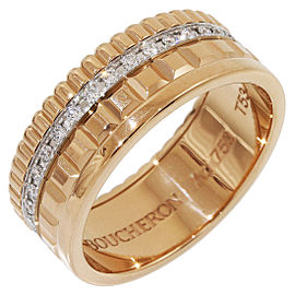Boucheron 18K Rose Gold Diamond Ring Size 6.5