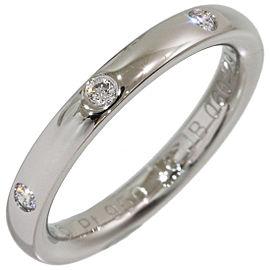 Van Cleef & Arpels Platinum Diamond Ring Size 3.75