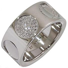 Louis Vuitton 18K White Gold Diamond Ring Size 8.75