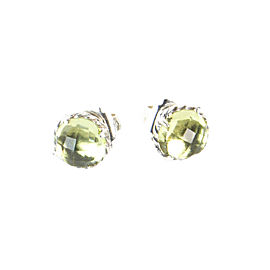 David Yurman Chatelaine Sterling Silver Citrine Earrings