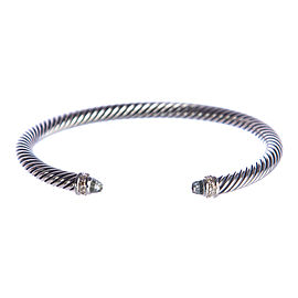 David Yurman Cable Sterling Silver Prasiolite Bracelet