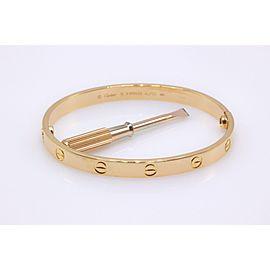 Cartier Love 18K Rose Gold Bracelet Size 18mm