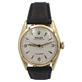 Rolex Oyster Perpetual 6084 Vintage 34mm Unisex Watch