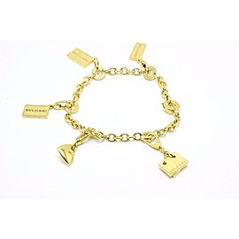 Bulgari 18K Yellow Gold Charm Bracelet