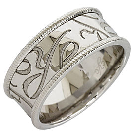 Carrera Y Carrera Design 18K White Gold Ring Size 9