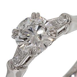 Harry Winston Platinum Diamond Ring Size 4.5