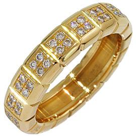 Chopard 18K Yellow Gold Diamond Ring Size 3.75