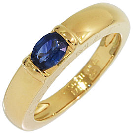 Chaumet 18K Yellow Gold Sapphire Ring Size 6.25