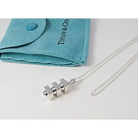 Tiffany & Co. 925 Sterling Silver Picasso Groove Pendant Necklace