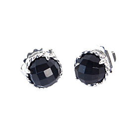 David Yurman Chatelaine Sterling Silver Onyx Earrings
