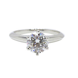 Tiffany & Co. 950 Platinum 1.04ctw. Diamond Engagement Ring Size 4.5
