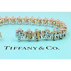 Tiffany & Co Jean Schlumberger 18K Yellow Gold Lynn Diamond Bracelet 2.77 tcw