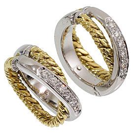 Pomellato 18K White Gold Diamond Earrings