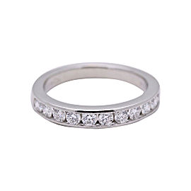 Tiffany & Co. 950 Platinum 0.24ctw. Diamond Wedding Ring Size 3.75