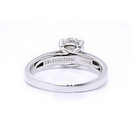 Grand Celebration Diamond Engagement Ring Round 1.04 ct 14k White Gold