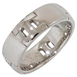Hermes 18K White Gold Ring Size 7.25