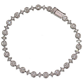 De Beers 18K White Gold Diamond Bracelet