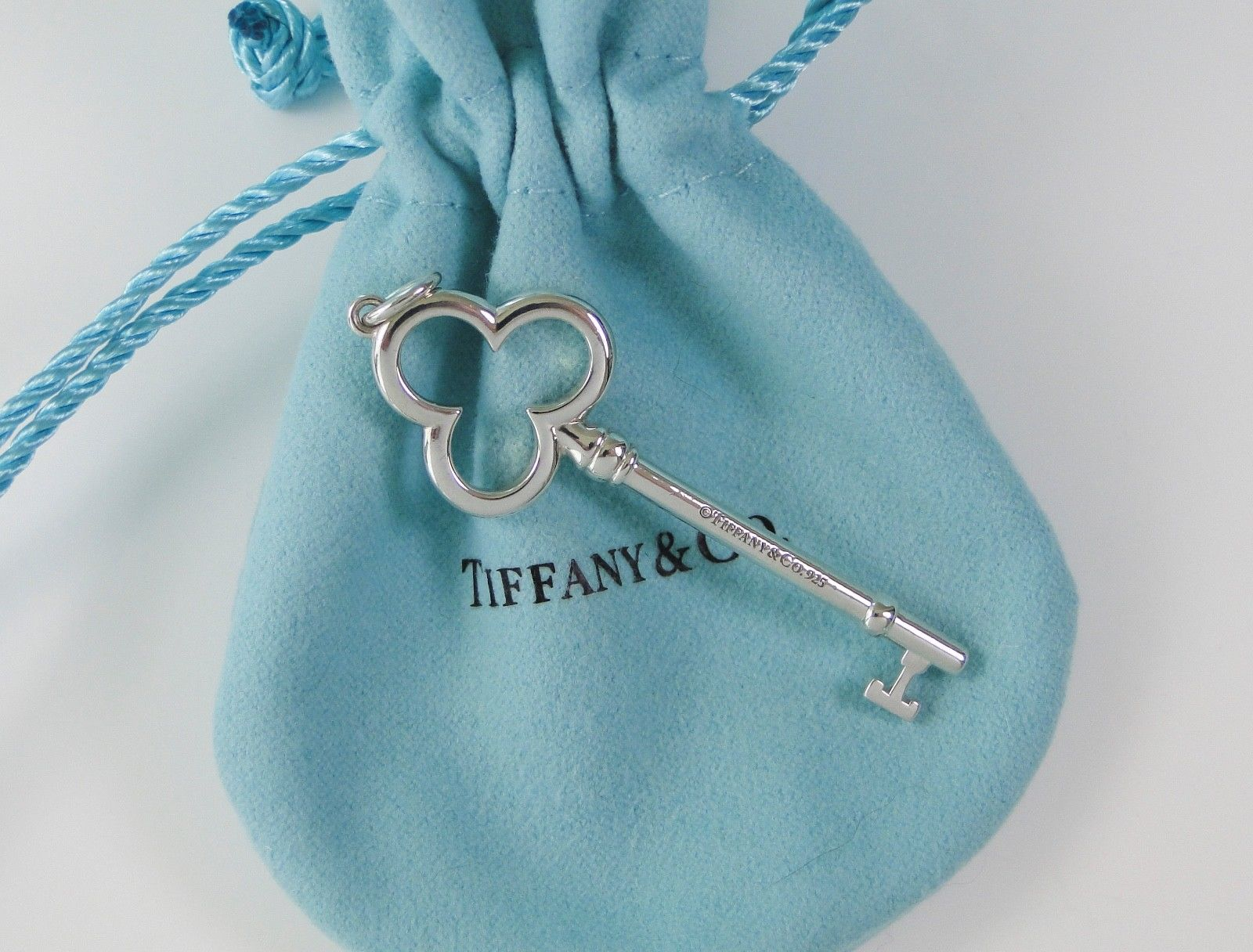 ab9e13ad3 Sterling Silver Trefoil Key Pendant | Tiffany & Co. | Buy at TrueFacet