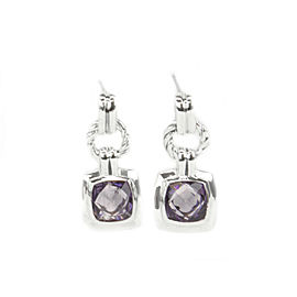 David Yurman Renaissance Sterling Silver Amethyst Earrings