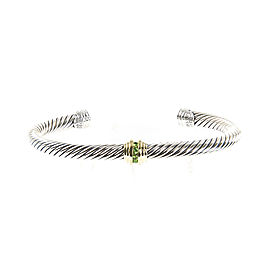 David Yurman Cable Classics 14K Yellow Gold, Sterling Silver Peridot Bracelet